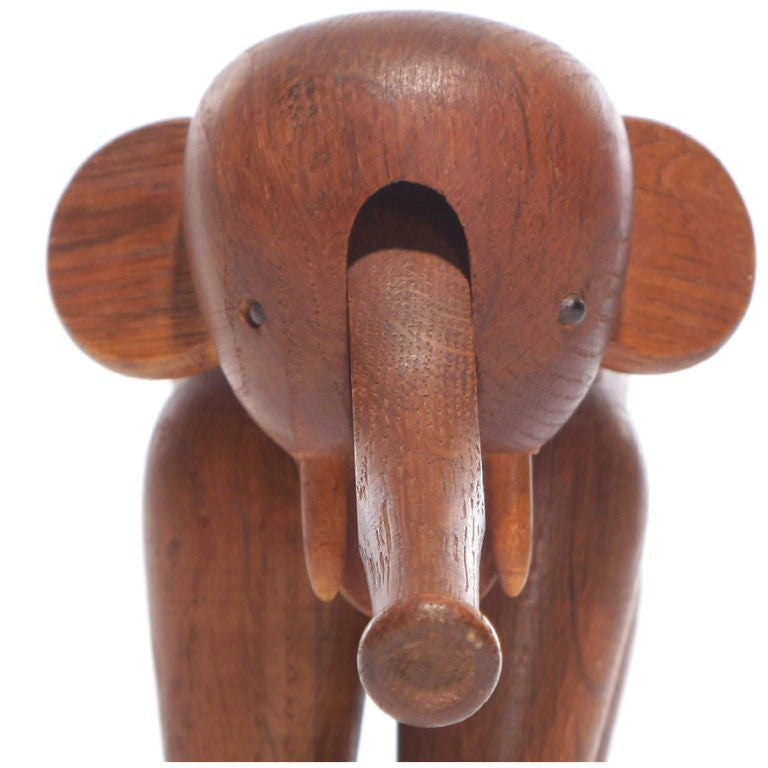 Oak Elephant by Kay Bojesen For Sale