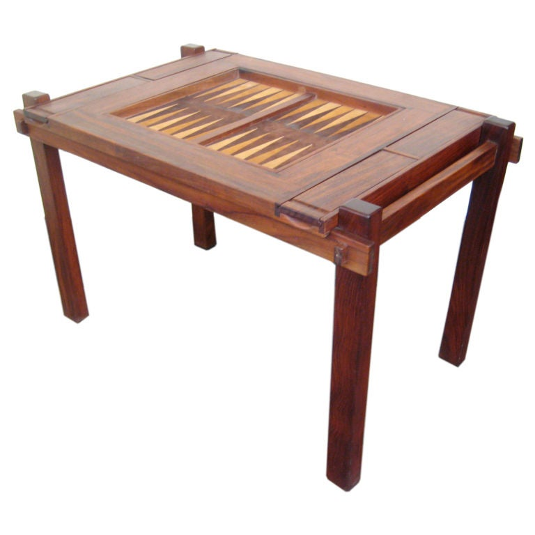 rosewood chess backgammon flip top table at 1stdibs. Black Bedroom Furniture Sets. Home Design Ideas