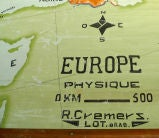 Hand Painted Canvas map of Europe image 6
