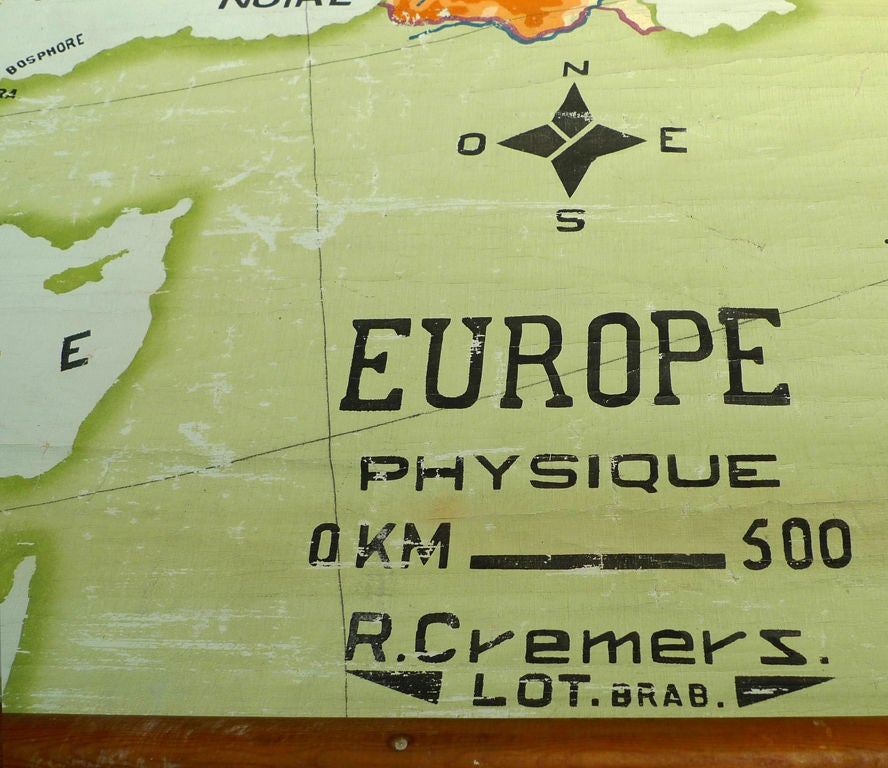 Hand Painted Canvas map of Europe 6