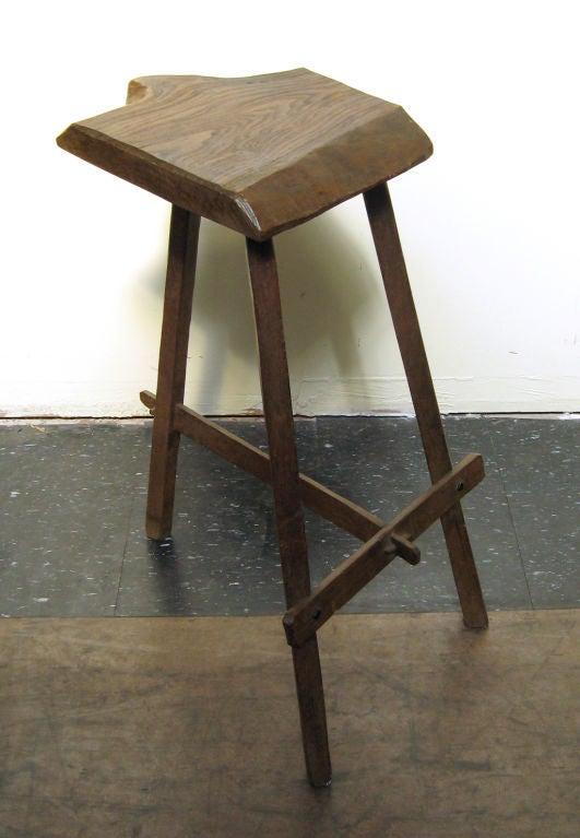 Tall organic wood stool at stdibs