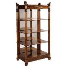 An important and exceptional Biedermeier Etagere by Anton Bembe