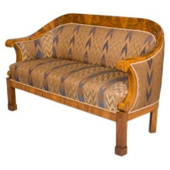 Classic Biedermeier Elliptical Sofa