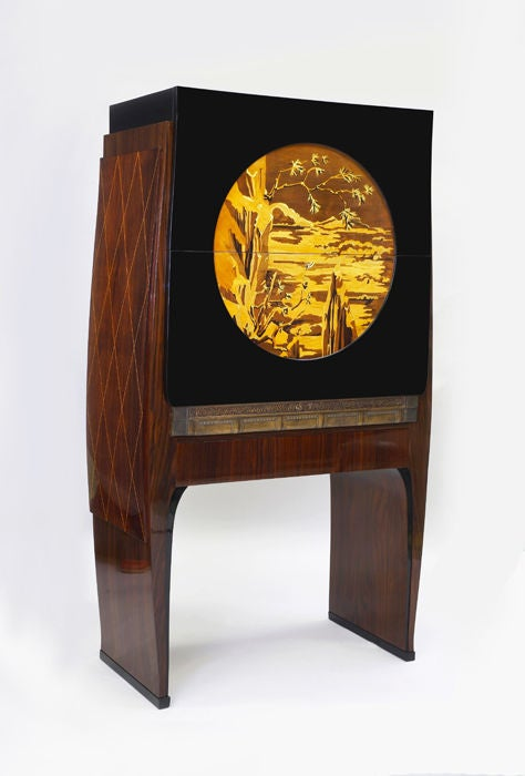 an exceptional art deco secretaire at 1stdibs. Black Bedroom Furniture Sets. Home Design Ideas