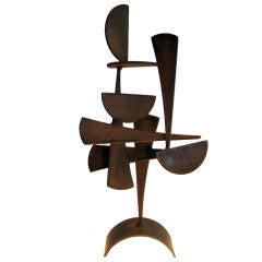 """Voyage""  a Corten steel sculpture by Joey  Vaiasuso"