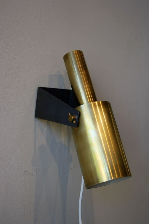 Pair of Large 1960s Brass Wall Lights at 1stdibs