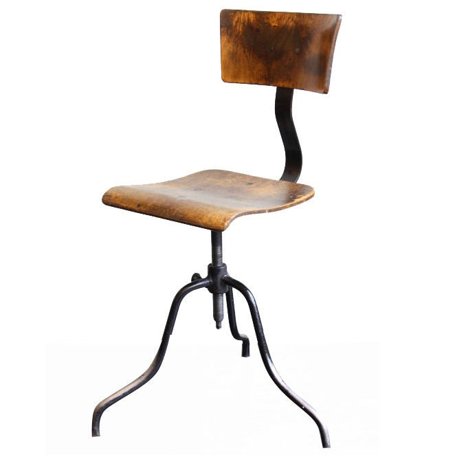 English Factory Industrial Stools At 1stdibs