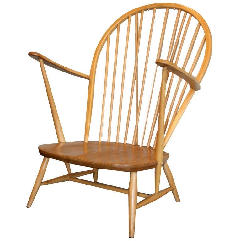 Low Windsor Chair By Lucian Ercolani For Ercol At 1stdibs