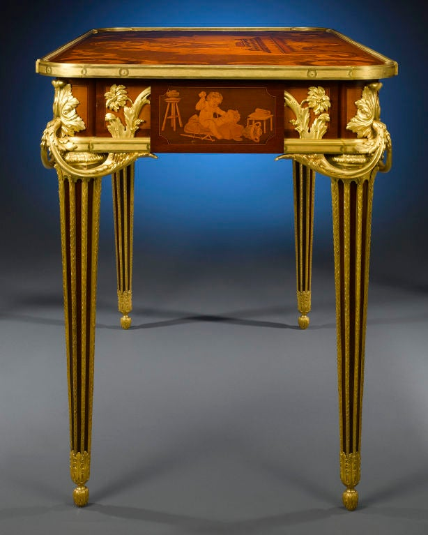 Mechanical Desk byAlfred Emmanuel Louis Beurdeley In Excellent Condition For Sale In New Orleans, LA