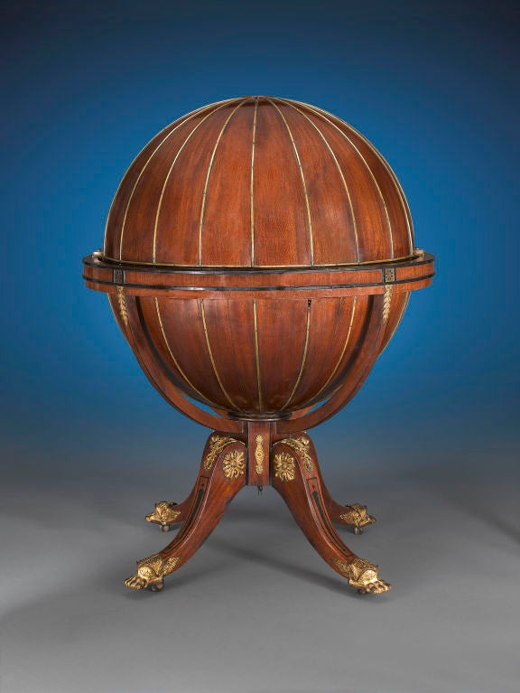 English Globe Desk by Morgan & Sanders 2