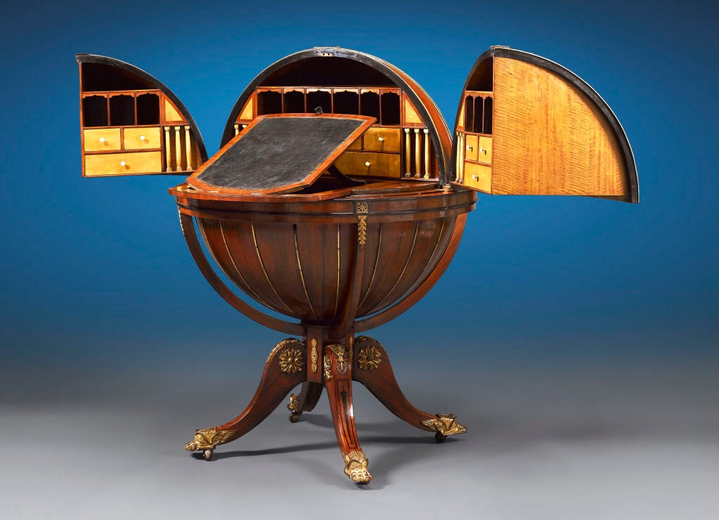 English Globe Desk by Morgan & Sanders 3