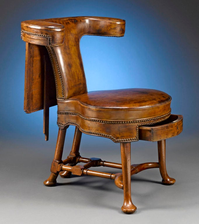 george ii walnut reading chair at 1stdibs