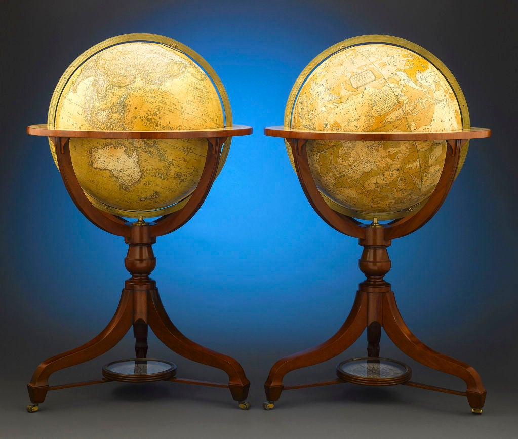 Globes For Sale >> Celestial And Terrestrial Globes By Newton And Son For Sale At 1stdibs
