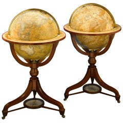 Celestial and Terrestrial Globes by Newton and Son