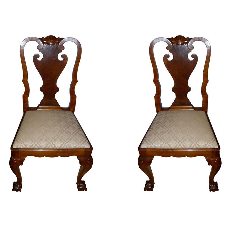 Pair Of English Queen Anne Revival Hall Chairs Saturday Sale At 1stdibs