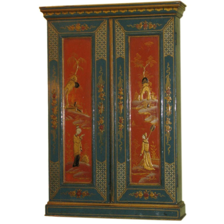Chinoiserie Design Lacquer Cabinet At 1stdibs