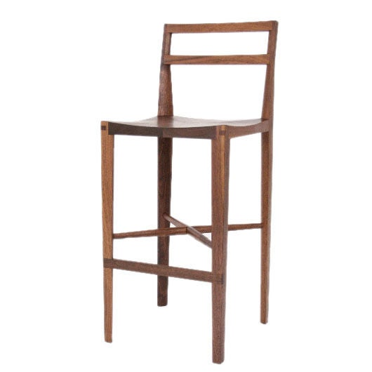 """Quarter Round Bar Stool"" by Christopher Kurtz For Sale"