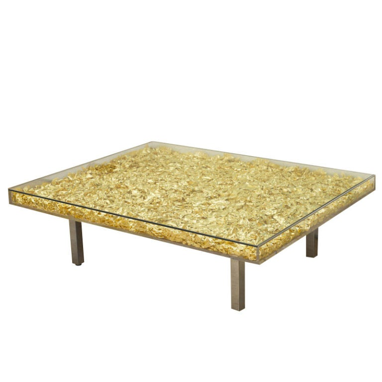 Table In Gold By Yves Klein At 1stdibs