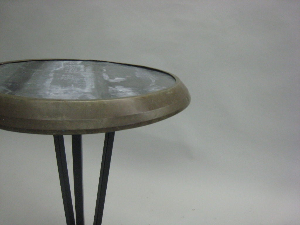 Two French, Mid- Century Modern Cafe Tables / End Tables, circa 1940 4