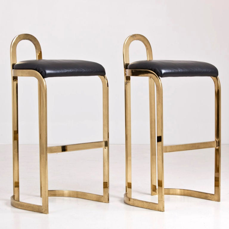 20th Century A Pair of Bar Stools designed by Pierre Cardin dated 1986 For Sale