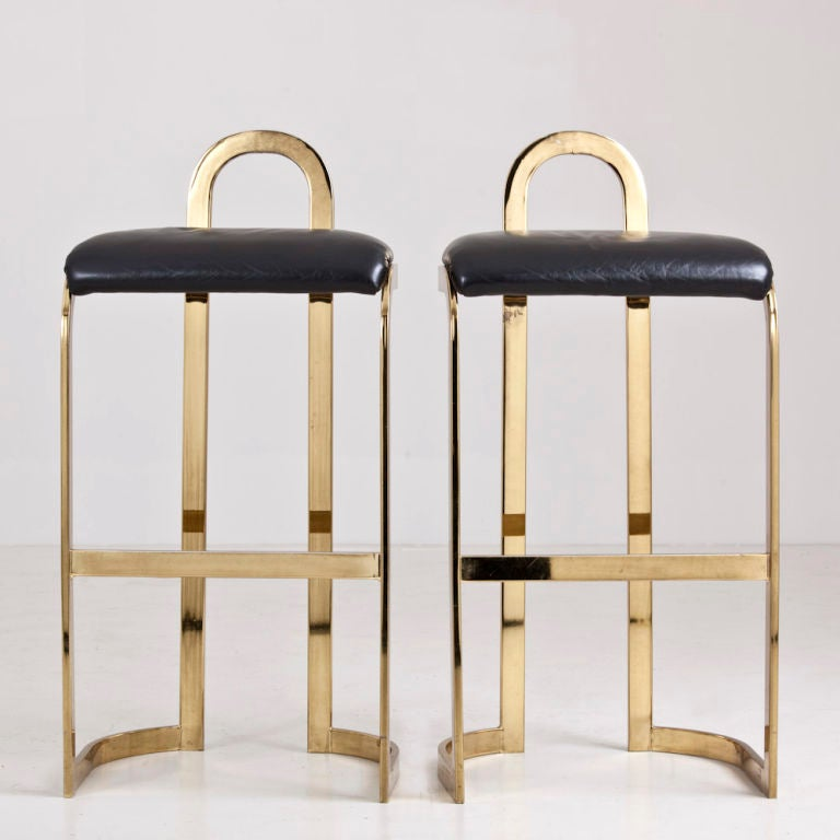 A Pair of Bar Stools designed by Pierre Cardin dated 1986 For Sale 1