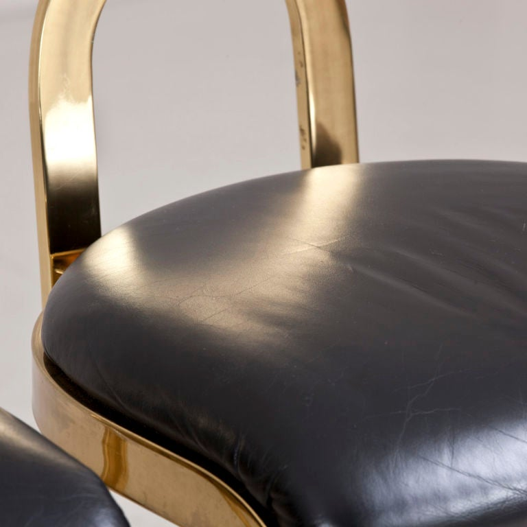 A Pair of Bar Stools designed by Pierre Cardin dated 1986 For Sale 3