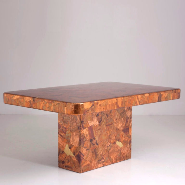 A 1960s Copper Dining Table At 1stdibs