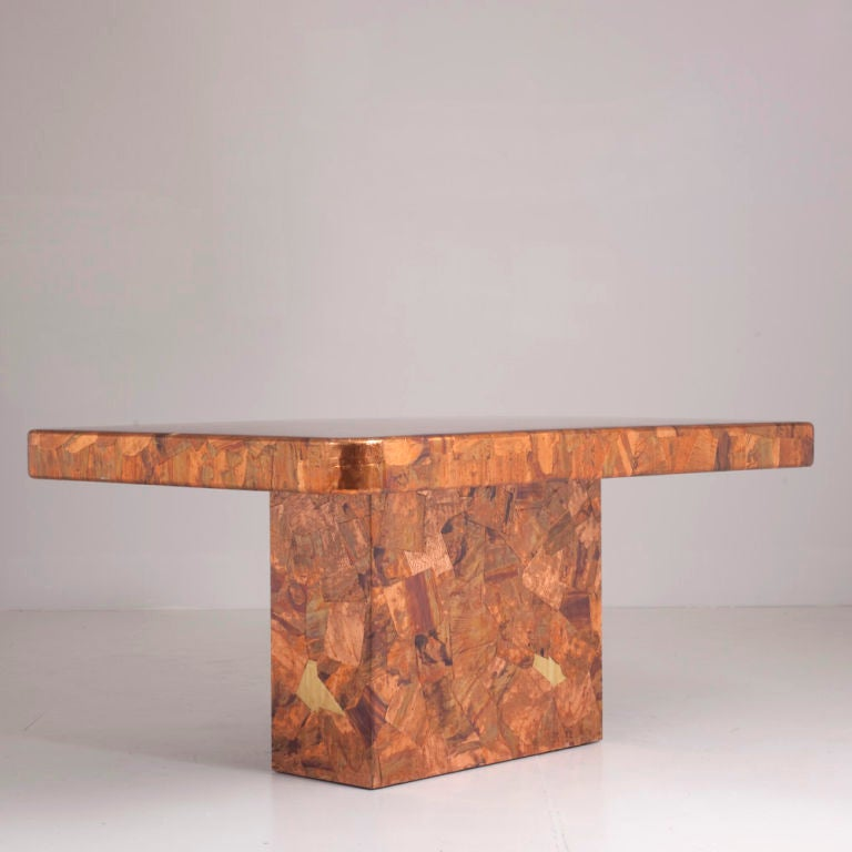 Copper Dining Room Table: A 1960s Copper Dining Table At 1stdibs