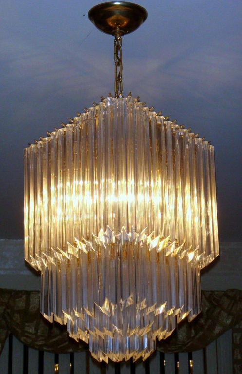 Murano Glass Quot Diamond Quot Chandelier At 1stdibs