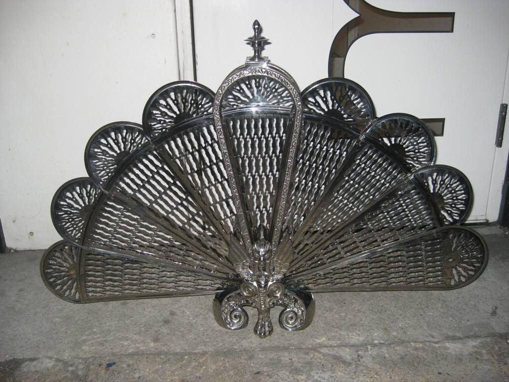 Art Deco Folding Fireplace Screen At 1stdibs