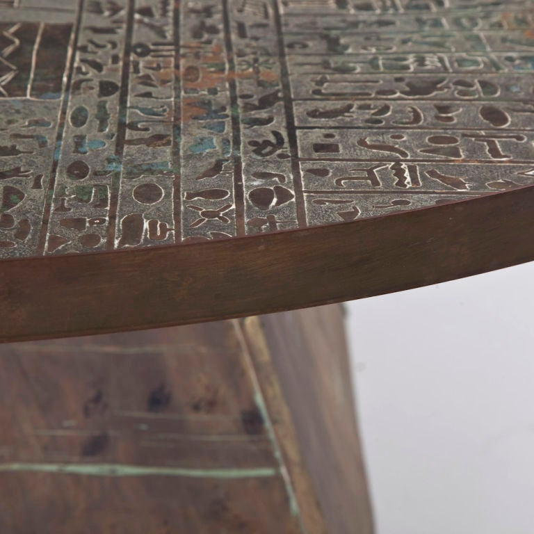 A Rare Patinated Bronze Egyptian Style Coffee Table By Laverne At 1stdibs