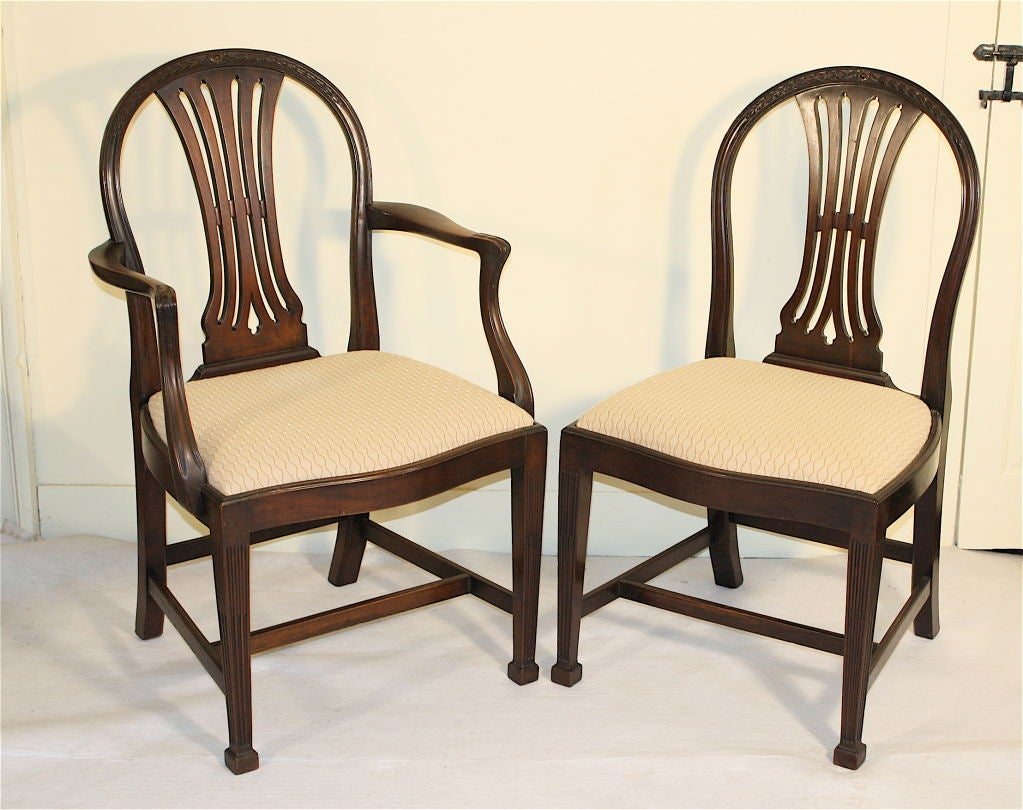 Eight gillows philadelphia dining chairs at stdibs