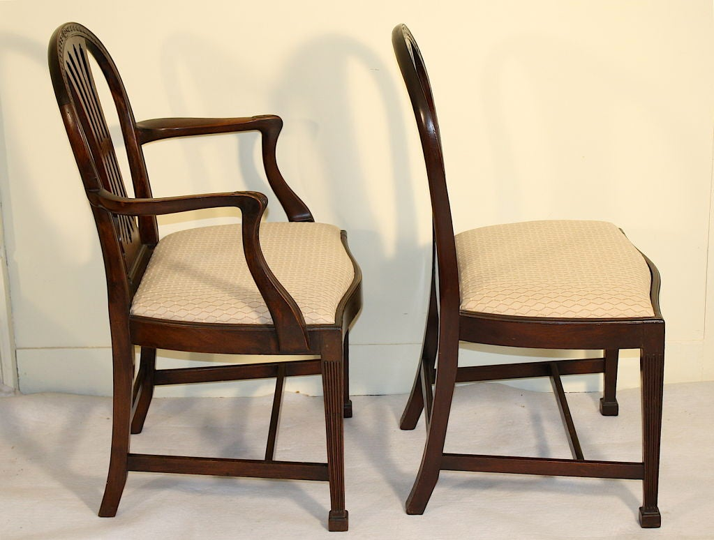 Eight Gillows Philadelphia Dining Chairs At 1stdibs