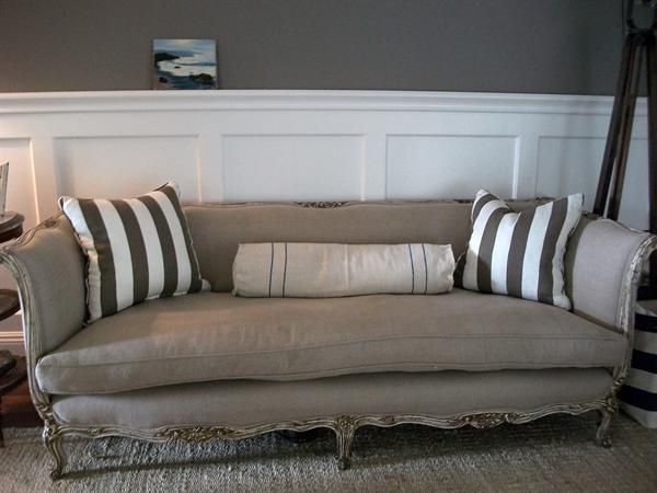 Gorgeous Antique Sofa From France (c. 1800s), Upholstered In A Natural  Belgian