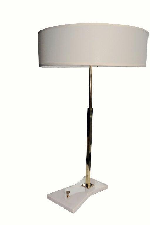 stiffel table lamp ca 1960 39 s on marble base at 1stdibs. Black Bedroom Furniture Sets. Home Design Ideas
