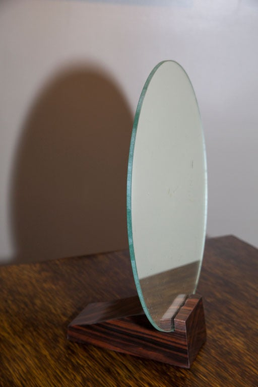 Emile-Jacques Ruhlmann Macassar Ebony Mirror Art Deco 1930 In Good Condition For Sale In Encino, CA