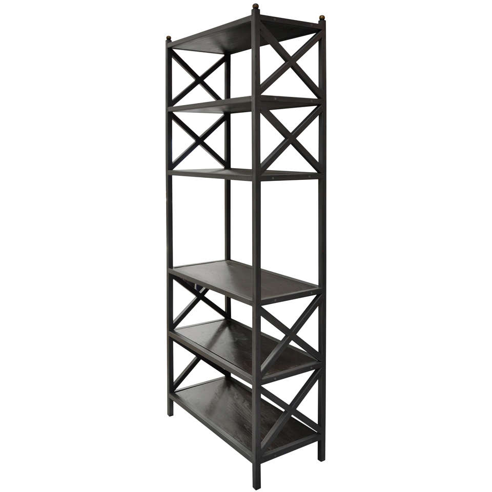 industrial etagere at 1stdibs. Black Bedroom Furniture Sets. Home Design Ideas