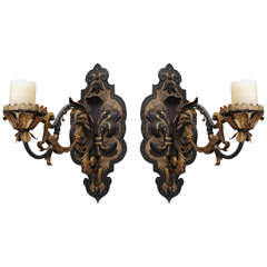 A Rare and Magnificent Large-Scale Pair of Roman 19th Century Sconces