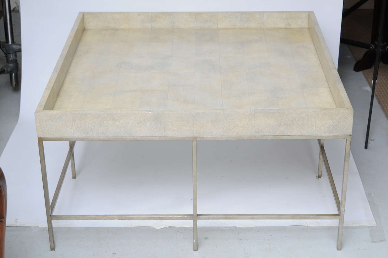 Unknown Faux Painted Shagreen Coffee Table For Sale