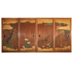Japanese Painted Wood Doors