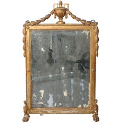 Early 18c. Italian Giltwood Mirror