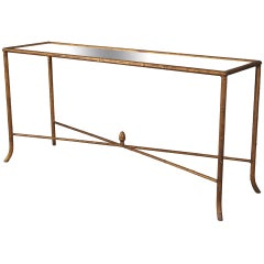 Faux Bois Console with Mirrored Top
