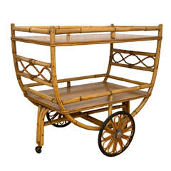 Rattan Serving/Tea Cart