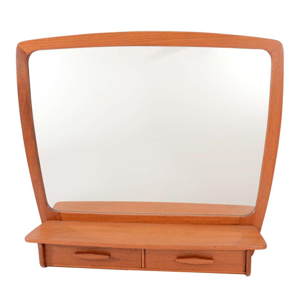 Atomic Era TV Shaped Mirror with Drawers at 1stdibs