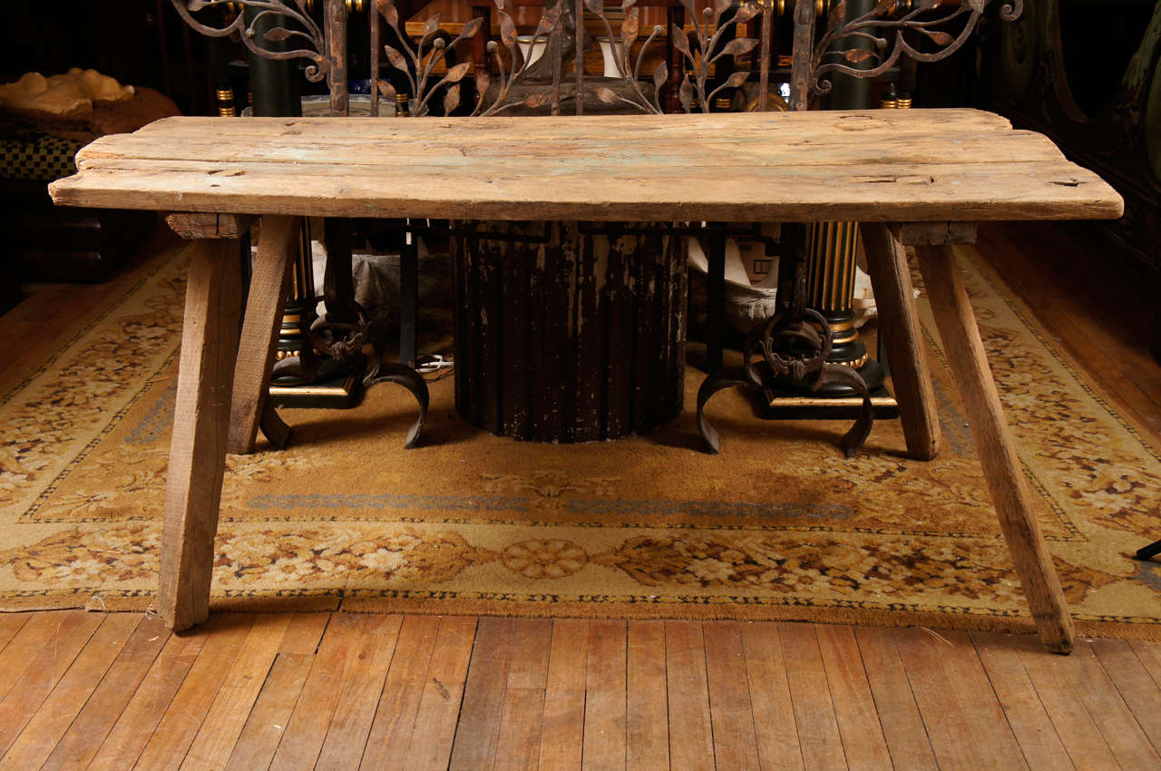 Marvelous An Early 19th Century Hog Butchering Collapsible Work Table 2