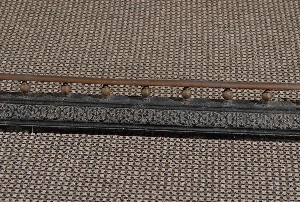 19th Century Victorian Bronze and Iron Fire Fender For Sale