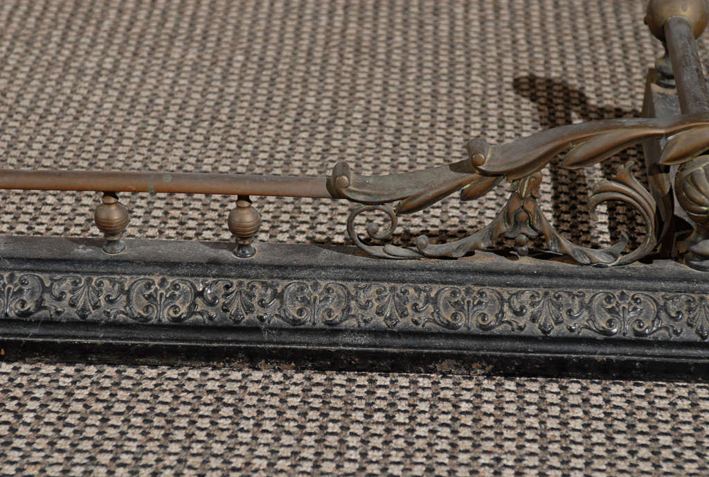 Victorian Bronze and Iron Fire Fender For Sale 4