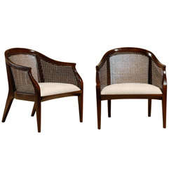 Pair of Tomlinson Cane Back Lounge/ Club Chairs