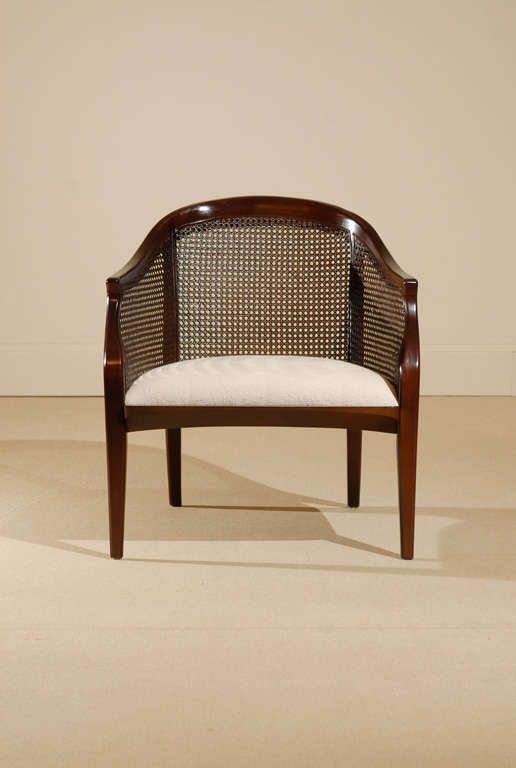 Pair Of Tomlinson Cane Back Lounge Club Chairs At 1stdibs