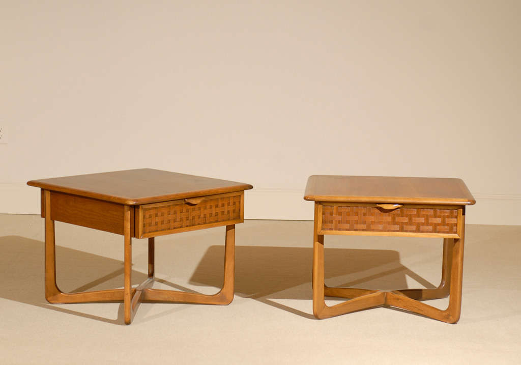 A Great Pair Of Walnut End Tables From The Iconic Warren Church Series For  Lane.